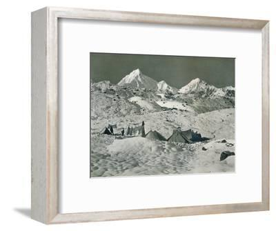 'The Camp below Jongsong La', c1903-Unknown-Framed Photographic Print
