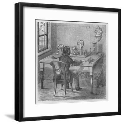 Transmitting a message, 1894-Unknown-Framed Giclee Print