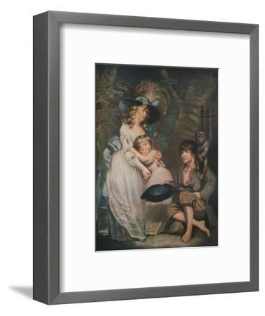 A Young Lady Encouraging the Low Comedian, c1786-1826, (1919)-William Ward-Framed Giclee Print