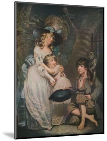 A Young Lady Encouraging the Low Comedian, c1786-1826, (1919)-William Ward-Mounted Giclee Print