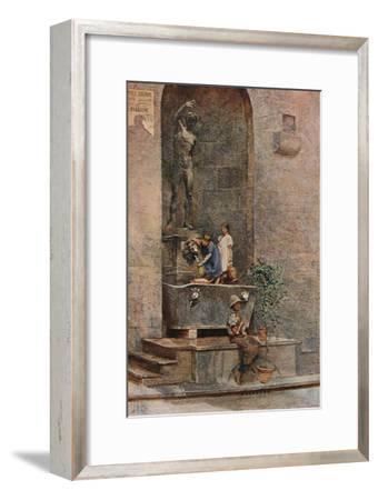 'The Fountain', c1904-Herbert Alexander Collins-Framed Giclee Print