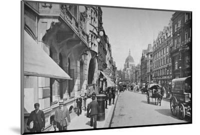Fleet Street, City of London, c1900 (1911)-Pictorial Agency-Mounted Photographic Print
