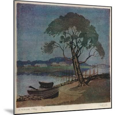 'A Waterside Village', c1921-Archibald Bertram Webb-Mounted Giclee Print