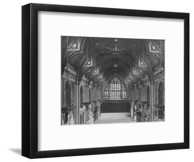 Interior of the Guildhall, City of London, c1904 (1906)-Photochrom Co Ltd of London-Framed Photographic Print