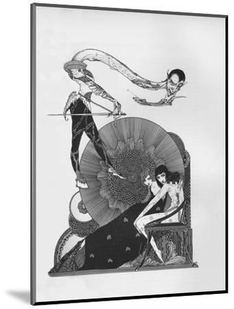 'Half-Title of Goethe's Faust', 1925-Harry Clarke-Mounted Giclee Print