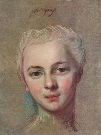 'Mademoiselle Puvigny', c1749-Maurice-Quentin de La Tour-Framed Giclee Print