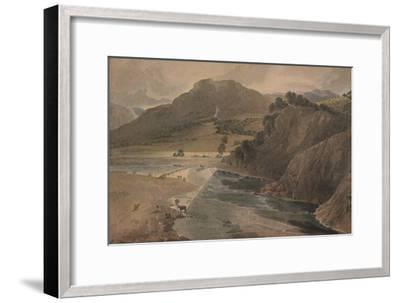 'The stepping stones on the Wharfe, above Bolton Abbey, Yorkshire', 1801-Thomas Girtin-Framed Giclee Print
