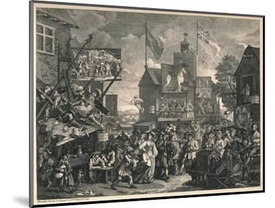 'Southwark Fair', 1733-William Hogarth-Mounted Giclee Print