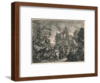 'Southwark Fair', 1733-William Hogarth-Framed Giclee Print