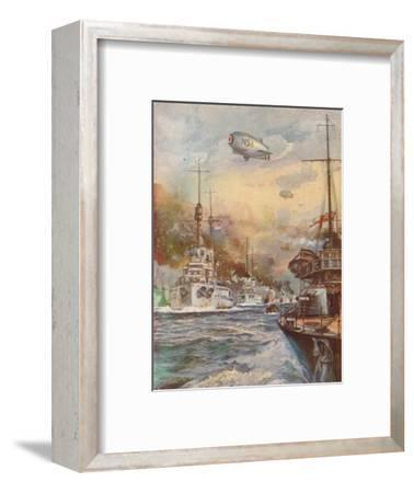 'The Surrender of the German High Seas Fleet', 1918 (1919)-Charles John De Lacy-Framed Giclee Print