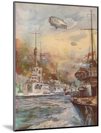 'The Surrender of the German High Seas Fleet', 1918 (1919)-Charles John De Lacy-Mounted Giclee Print