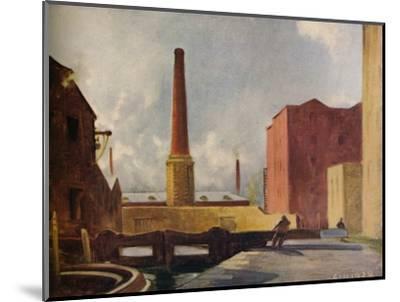 'Lock Gates, Blackburn', 1928 (1931)-Charles John Holmes-Mounted Giclee Print