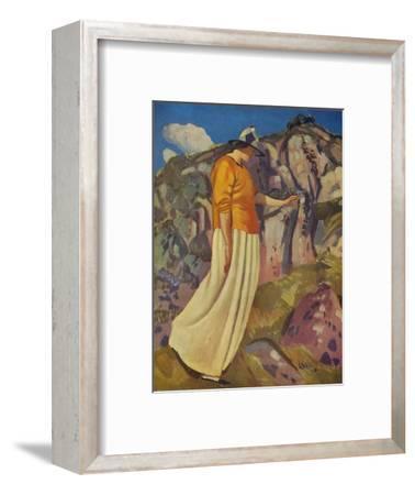 'The Yellow Skirt', 1914-Derwent Lees-Framed Giclee Print