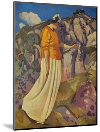 'The Yellow Skirt', 1914-Derwent Lees-Mounted Giclee Print