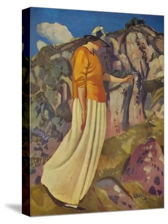 'The Yellow Skirt', 1914-Derwent Lees-Stretched Canvas Print