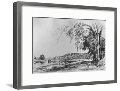 'View of Richmond from the Thames', 1871-Maxime Lalanne-Framed Giclee Print