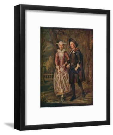 'Lovers in a Park', 1745 (1931)-Marcellus Laroon the Younger-Framed Giclee Print