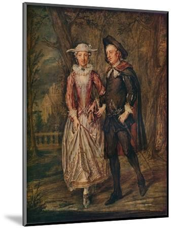 'Lovers in a Park', 1745 (1931)-Marcellus Laroon the Younger-Mounted Giclee Print