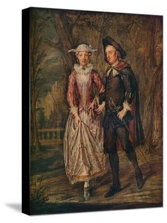 'Lovers in a Park', 1745 (1931)-Marcellus Laroon the Younger-Stretched Canvas Print