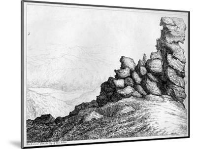 'Ben Lomond from the Top of`Ben Arthur', c1812-S Leith-Mounted Giclee Print