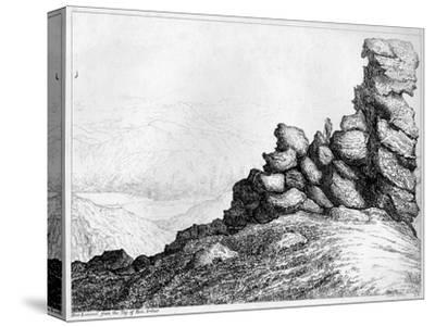 'Ben Lomond from the Top of`Ben Arthur', c1812-S Leith-Stretched Canvas Print