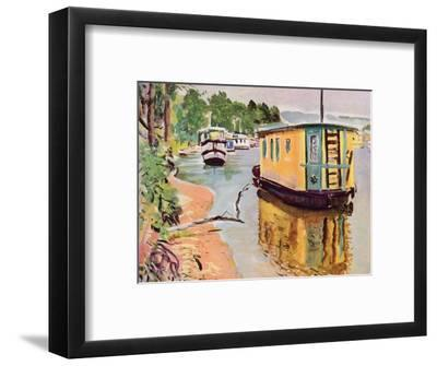 'Houseboats, Loch Lomond', c1924-George Leslie Hunter-Framed Giclee Print