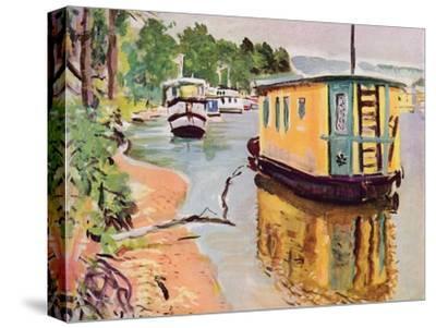 'Houseboats, Loch Lomond', c1924-George Leslie Hunter-Stretched Canvas Print