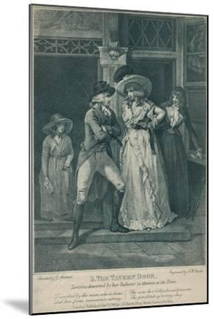 'The Tavern Door: Laetitia Deserted By Her Seducer is Thrown on the Town', 1789-Otto Limited-Mounted Giclee Print
