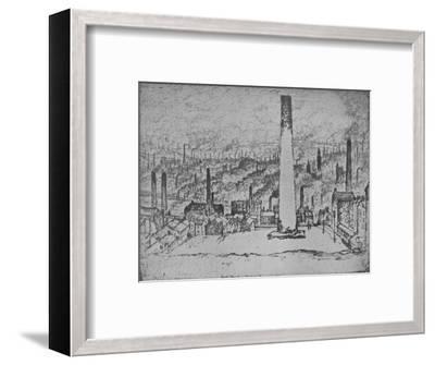 'The Great Stack, Bradford', 1909-Joseph Pennell-Framed Giclee Print