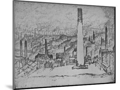 'The Great Stack, Bradford', 1909-Joseph Pennell-Mounted Giclee Print