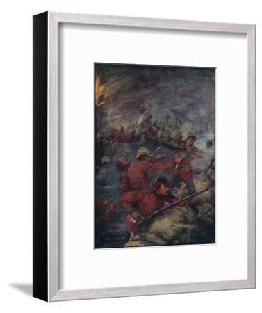 'Thus Did A Hundred Men Keep Three Thousand Savages At Bay', c1908, (c1920)-Joseph Ratcliffe Skelton-Framed Giclee Print