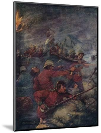 'Thus Did A Hundred Men Keep Three Thousand Savages At Bay', c1908, (c1920)-Joseph Ratcliffe Skelton-Mounted Giclee Print