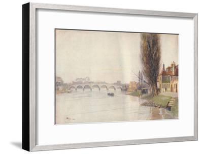 'Old Kew Bridge', 1899, (1914)-James S Ogilvy-Framed Giclee Print