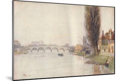 'Old Kew Bridge', 1899, (1914)-James S Ogilvy-Mounted Giclee Print