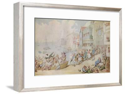 'Landing at Greenwich', c1780-Thomas Rowlandson-Framed Giclee Print