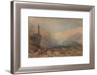 The Splugen Pass', c1841, (1938)-JMW Turner-Framed Giclee Print