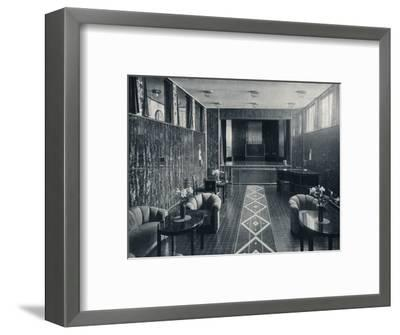 'The Music Room of the Stoclet Palace, Brussels, Belgium', c1914-Unknown-Framed Photographic Print