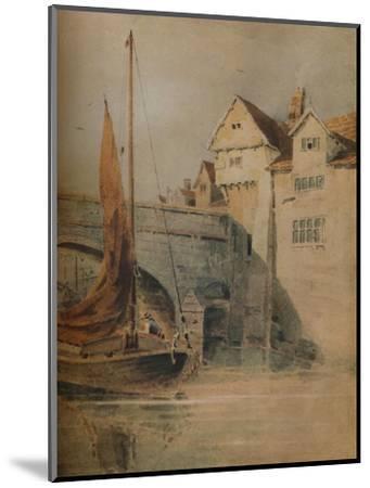 'Fye Bridge, Norwich', c1835, (1938)-John Thirtle-Mounted Giclee Print