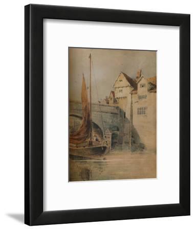 'Fye Bridge, Norwich', c1835, (1938)-John Thirtle-Framed Giclee Print