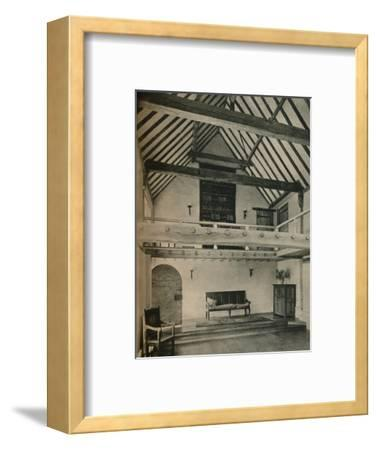 'Boxhurst Farm, Kent: End of Dance Room. Restored and converted by Oliver Hill', c1928-Unknown-Framed Photographic Print