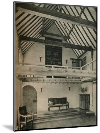 'Boxhurst Farm, Kent: End of Dance Room. Restored and converted by Oliver Hill', c1928-Unknown-Mounted Photographic Print