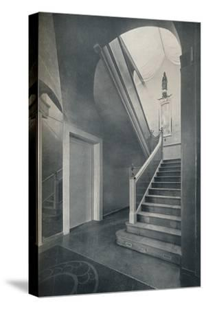'Staircase and hall of Finella by architect Raymond McGrath (1903-1977)', 1930-Unknown-Stretched Canvas Print