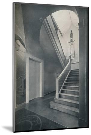 'Staircase and hall of Finella by architect Raymond McGrath (1903-1977)', 1930-Unknown-Mounted Photographic Print