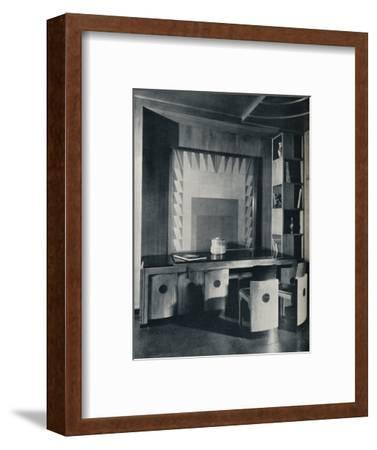 'A Conference Table and chairs for a private office. Designed by Joseph Sinel', 1930-Unknown-Framed Photographic Print