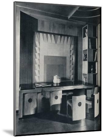 'A Conference Table and chairs for a private office. Designed by Joseph Sinel', 1930-Unknown-Mounted Photographic Print
