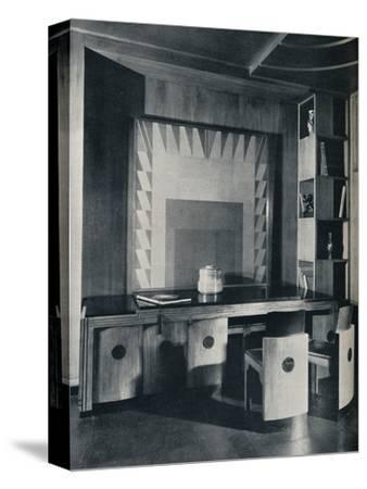 'A Conference Table and chairs for a private office. Designed by Joseph Sinel', 1930-Unknown-Stretched Canvas Print