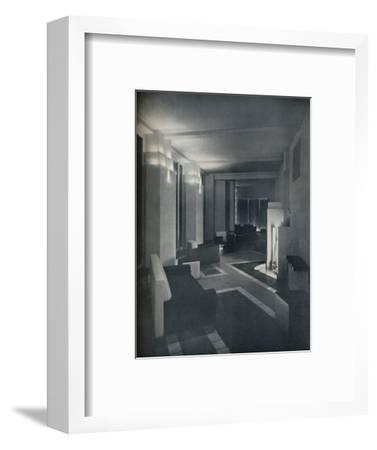 '1930s interior with contemporary lighting', 1930-Unknown-Framed Photographic Print