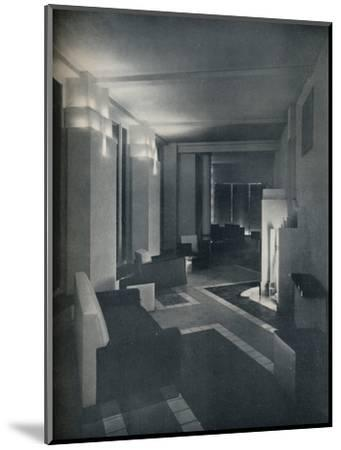 '1930s interior with contemporary lighting', 1930-Unknown-Mounted Photographic Print