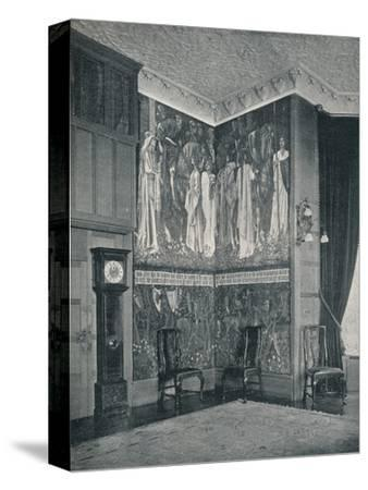 'Arras Tapestry at Stanmore Hall', 1898-9-Unknown-Stretched Canvas Print