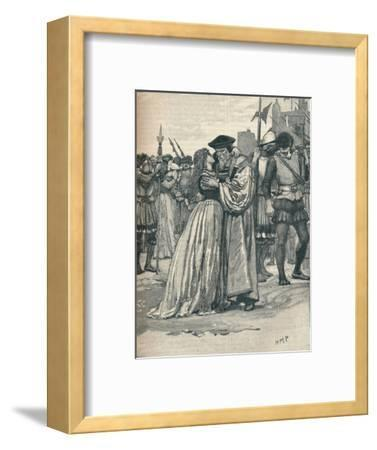 The parting of Sir Thomas More and his daughter, 1535 (1905)-Unknown-Framed Giclee Print